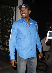 Metta World Peace looked oh-so-handsome in a long-sleeved button-down shirt.