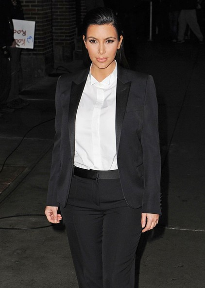 More Pics of Kim Kardashian Pantsuit (1 of 28) - Suits Lookbook - StyleBistro