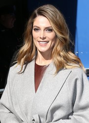 Ashley Greene looked oh-so-beautiful with her long waves while visiting 'Good Morning America.'