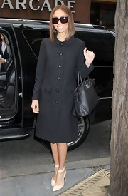 Giuliana Rancic chose a chic and structured wool coat with an adorable Peter Pan collar for her look while stopping by the 'Today Show.'