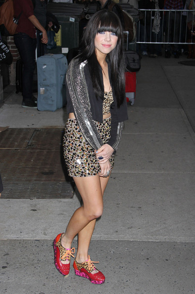 More Pics of Carly Rae Jepsen Embellished Flats (4 of 11) - Carly Rae Jepsen Lookbook - StyleBistro