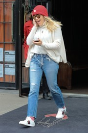 Busy Philipps styled her look with a cool pair of Gucci Ace sneakers.