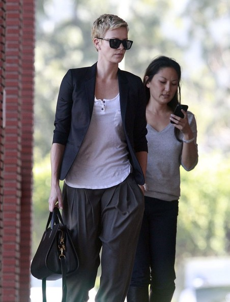 More Pics of Charlize Theron Blazer (1 of 19) - Charlize Theron Lookbook - StyleBistro