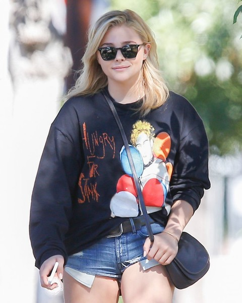 Chloe Grace Moretz Square Sunglasses