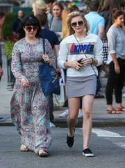 Chloe Moretz wore Vans 'Authentic' sneakers while seen out in West Village, New York.