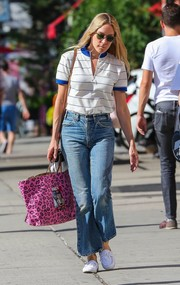 Chloe Sevigny blended in wearing this striped polo shirt while strolling in New York City.