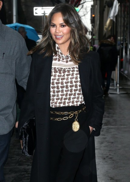 Chrissy Teigen Metallic Belt