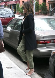 Chrissy Teigen was spotted out in New York City wearing a pair of khakis and an oversized jacket.