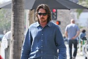 Christian Bale Button Down Shirt