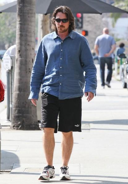 More Pics of Christian Bale Button Down Shirt (3 of 13) - Christian Bale Lookbook - StyleBistro