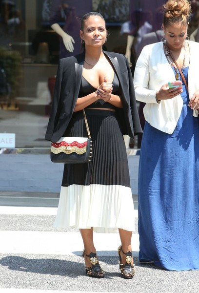 Christina Milian Full Skirt