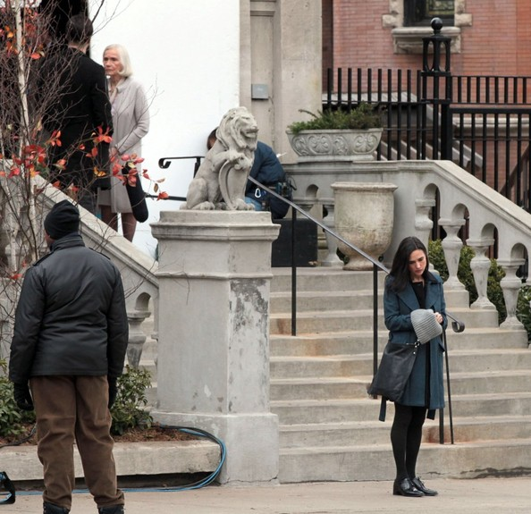 Colin Farrell and Jennifer Connelly Film 'Winter's Tale' in NYC
