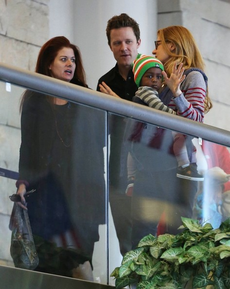 Debra Messing & Connie Britton Departing On A Flight At LAX