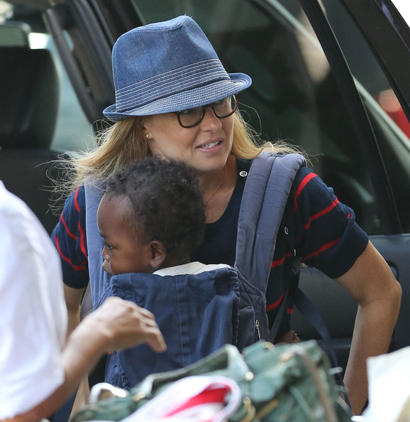 Connie Britton And Son Yoby Departing On A Flight At LAX