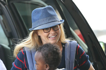 Connie Britton Yoby Britton Connie Britton And Son Yoby Departing On A Flight At LAX