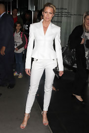Robin wears a white sleek pantsuit for 'The Conspirator' premiere in NY.