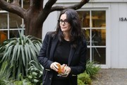Courteney Cox Arquette Suede Loafers