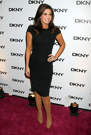 Kimberly Guilfoyle kept it basic with a simple LBD at the DKNY Sunglass Soiree.