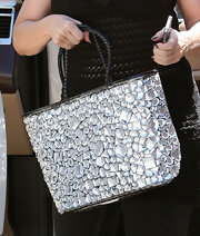 Kirstie Alley added major sparkle to her ensemble with this crystal-encrusted tote during 'Dancing with the Stars' rehearsals.