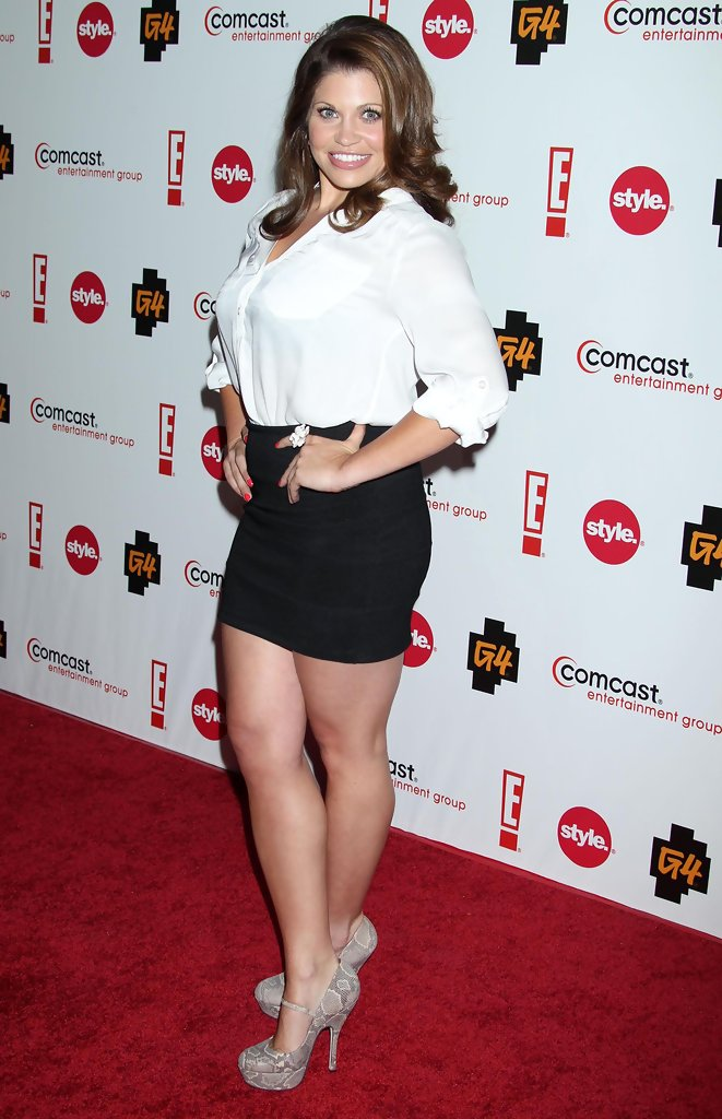Lea michele in short dress with epic cleavage