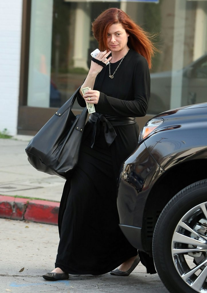 Debra Messing Leather Tote Debra Messing Looks Stylebistro