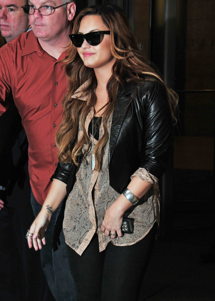Demi+Lovato in Demi Lovato Hits The Big Apple
