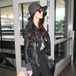 Demi Moore in all black.
