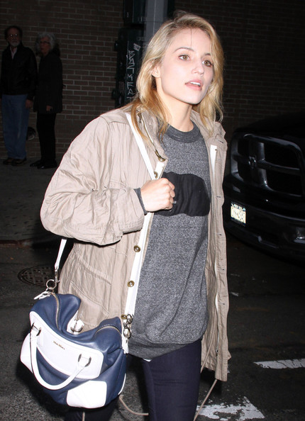 More Pics of Dianna Agron Leather Tote (1 of 7) - Dianna Agron Lookbook - StyleBistro
