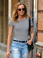 Diane Kruger wore retro-chic shades while strolling in New York City.