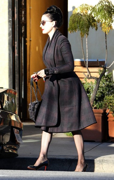 More Pics of Dita Von Teese Wool Coat (1 of 18) - Dita Von Teese Lookbook - StyleBistro