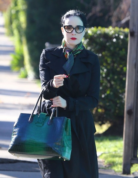More Pics of Dita Von Teese Exotic Skin Tote (5 of 9) - Dita Von Teese Lookbook - StyleBistro