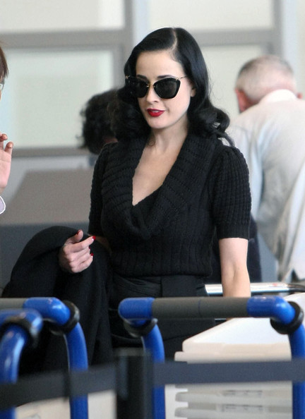 More Pics of Dita Von Teese Knee Length Skirt (1 of 18) - Dita Von Teese Lookbook - StyleBistro