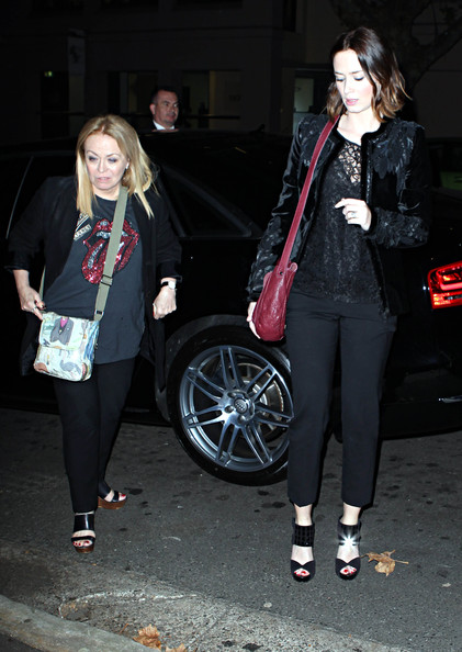 More Pics of Emily Blunt Peep Toe Pumps (1 of 7) - Emily Blunt Lookbook - StyleBistro