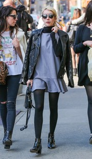 Emma walked around New York in a pair of Kurt Geiger London 'Savannah' Boots.