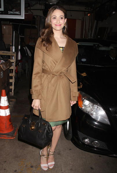 Emmy Rossum Wool Coat