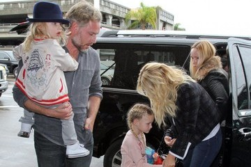 Eric Johnson Jessica Simpson Jessica Simpson & Family Departing On A Flight At LAX