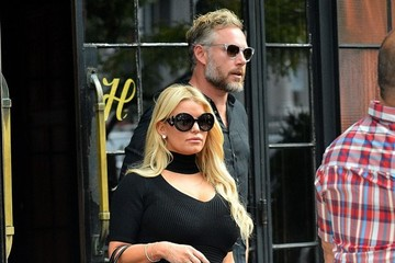 Eric Johnson Jessica Simpson Jessica Simpson & Eric Johnson Step Out In NYC