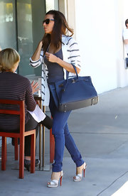 Eva Longoria doesn't do lunch style lightly—she wore these mile-high heels for a daytime dine at Ammo in Hollywood.