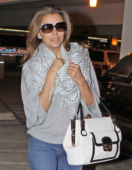Eva Longoria Patterned Scarf