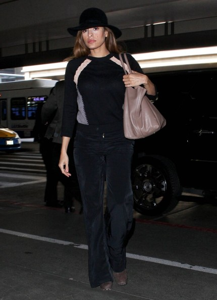 Eva Mendes Wide Leg Pants