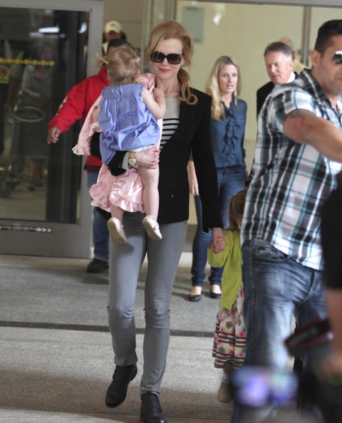 Nicole Kidman and Family Land in LA