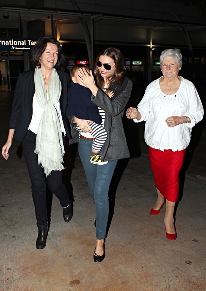 Miranda Kerr's Mother and Grandmother Meet Her and Son Flynn in Sydney