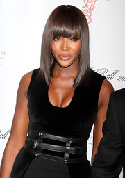 Naomi Campbell's cut looked a little edgy at the Gabrielle's Angel Foundation ball. Her sleek, straight tresses and lash-grazing bangs were perfectly paired with her dramatic dress.