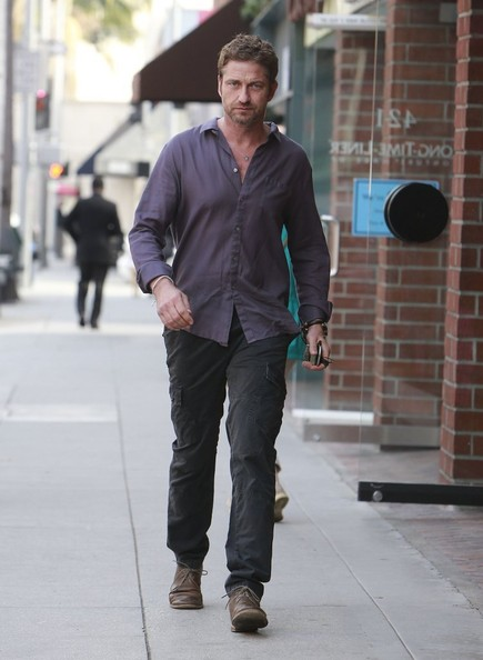 Gerard Butler Button Down Shirt