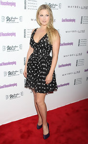 Ali Larter was on the dot in a retro black and white polka-dot cocktail dress at the Shine On Awards.