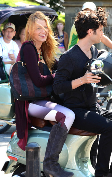 More Pics of Blake Lively Knee High Boots (1 of 19) - Shoes Lookbook - StyleBistro