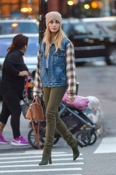 Hailey Baldwin Denim Jacket
