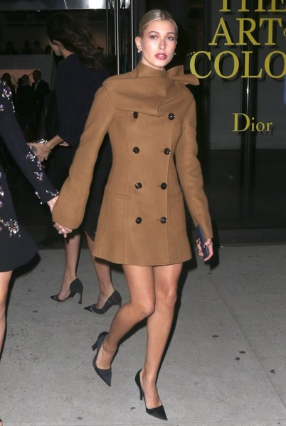 Hailey Baldwin Wool Coat