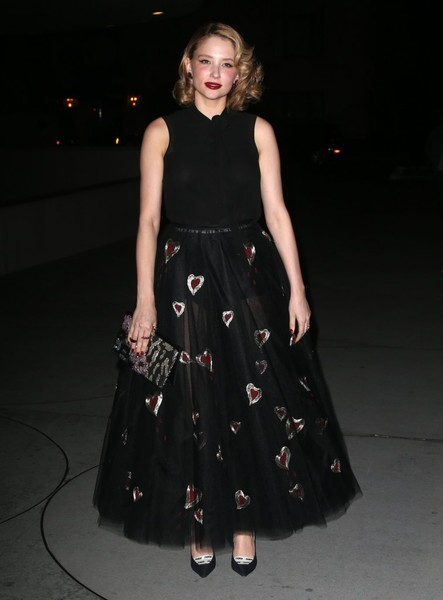Haley Bennett Sheer Skirt