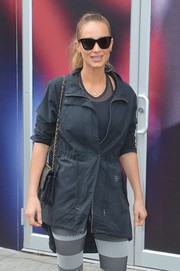 Hannah Jeter headed out in New York City wearing classic cateye sunnies.